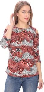 GANESH FASHION Casual 3/4th Sleeve Printed Women Multicolor Top