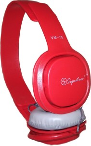 Signature vm 75_01 Wired Headphone Red, Over the Ear