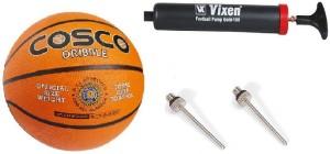 Cosco Combo of 3, 1 Dribble Basketball Size - 5, 1 Vixen Pump, And Needle. Basketball -   Size: 5