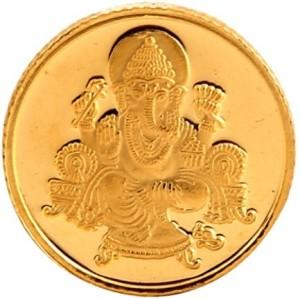 Bangalore Refinery Ganesh 24 (999) K 8 g Yellow Gold Coin