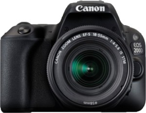 Canon EOS 200D DSLR Camera Body with Dual Lens: EF-S18-55 IS STM+ EF-S 55-250 mm IS II (16 GB SD Card + Camera Bag)