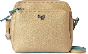 94493e626 Baggit Women Gold Leatherette Sling Bag Best Price in India