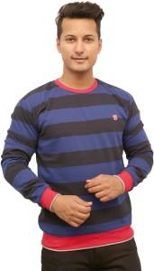 PROTEX Full Sleeve Striped Men Sweatshirt