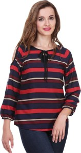 Myshka Casual Full Sleeve Striped Women's Multicolor Top