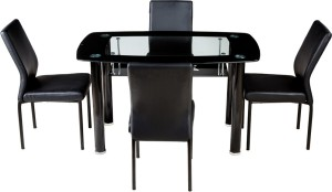 Woodness Glass 4 Seater Dining Set