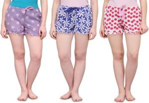 Kotty Printed Women's Multicolor Basic Shorts