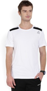a5457ea2 Reebok Solid Men's Round Neck White T-Shirt