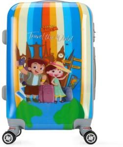 Fortune Chhota Bheem Travel the World set of 20 Inch Kids Luggage trolley Bag Cabin Luggage - 20 inch