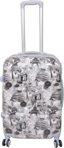 PRAGEE POLYCARBONATE 24 INCHES PRINTED SUITCASE ( HARD SHELL) Check-in Luggage - 24 inch