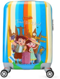 Fortune Chhota Bheem Travel the World 18 Inch Kids Luggage Trolley Bag Cabin Luggage - 18 inch