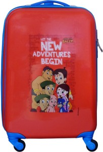 Fortune Chhota Bheem New Adventure Begin 18 Inch Kids Luggage Trolley Bag Cabin Luggage - 18 inch