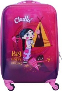 Fortune Chhoota Bheem Chutki Big happy Dreams 18 Inch Kids Luggage Trolley Bag Cabin Luggage - 18 inch