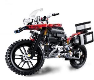 Emob 2 In 1 Motorcycle Biker R1200GS Adventure Motorrad Building Bricks Blocks Learning Toys-Red
