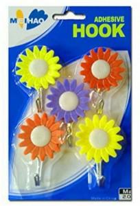 NK-STORE 5Pcs Sunflower Shaped Hanger Clothes Hanger Wall Door Hook 5 - Pronged Hook