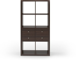 Urban Ladder Boeberg Bookshelf 4 x 2; Inserts : 2 drawers Engineered Wood Semi-Open Book Shelf