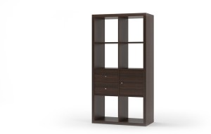 Urban Ladder Boeberg Bookshelf 4 x 2; Inserts : 1 cabinet, 1 drawers Engineered Wood Semi-Open Book Shelf