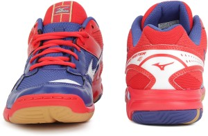 0722b5bc466b Mizuno WAVE TWISTER 4 Badminton Shoes Red Blue Best Price in India ...