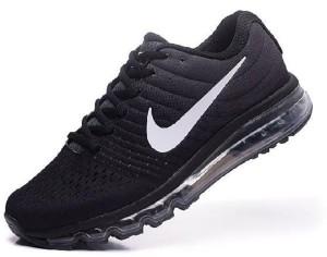 7d1837cf53112 Adibon air max2017 Black Running Shoes ( Black )