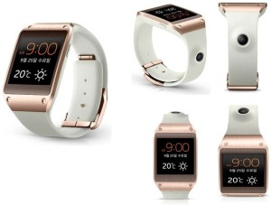 Samsung Galaxy Gear White Rose Gold Smartwatch White Strap 41 4mm