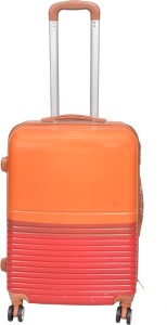 PRAGEE POLYCARBONITE SUITCASE 24 INCHES ORANGE HARD SHELL Check-in Luggage - 24 inch