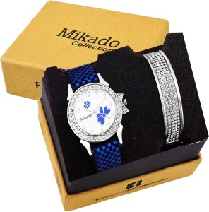 Mikado New fashionable and White dial butterfly casual analog watch for women and girls Watch  - For Girls