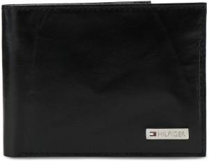 Tommy Hilfiger Men Black Genuine Leather Wallet