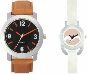 VALENTIME VL28VT20 New Latest Stylish Designer Collection Leather Combo Couple Fancy Casual Best Offer Watch  - For Men & Women