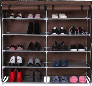 HomeBi Metal Collapsible Shoe Stand