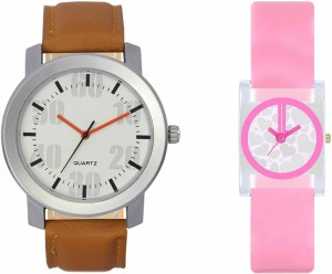 VALENTIME VL27VT08 New Latest Stylish Designer Collection Leather Combo Couple Fancy Casual Best Offer Watch  - For Men & Women