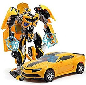 P17 collection Robot to Car Converting Transformer Toy For Kids  Yellow  Yellow