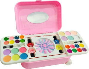 Generic Hello Kitty Makeup Kit Made Up Of Without Chemicals Comes In Trolley For Kids