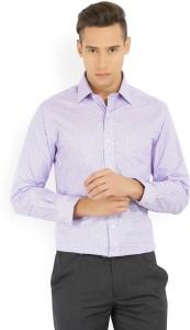 Arrow Men's Printed Formal Blue, Pink Shirt