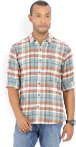 Wrangler Men's Checkered Casual Multicolor Shirt