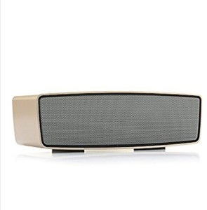 casvo Compatible Wireless Bluetooth Multimedia Speaker With AUX/ T F Card/USB/Radio/Pen Drive/ (Golden) Bluetooth Mobile/Tablet Speaker
