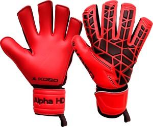 Kobo Alpha HD Football Goal Keeper / Soccer Ball Hand Protector Goalkeeping Gloves (S, Red)