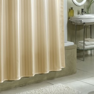 Yellow Weaves PVC Beige Plain Shower Curtain84 Cm In Height Pack Of 2