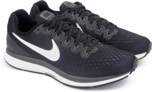 649acca871180 Nike AIR ZOOM PEGASUS 34 Running Shoes Black Best Price in India ...
