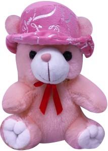 Casotec Cute Teddy Bear with Cap Stuffed Soft Plush Soft Toy  - 22 cm