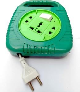 Bizinto Green Round 3+1 Flex Box with Long Wire 6 A Three Pin Socket