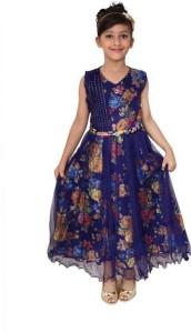 Arshia Fashions Girls Maxi/Full Length Party Dress