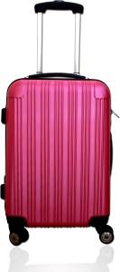 CARRY TRIP 4 Wheels Luggage Trolley Bag with TSA Lock (pink) Cabin Luggage - 20 inch