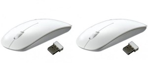 Freya PACK OF 2 ULTRA SLIM 2.4GHZ Wireless Optical Mouse