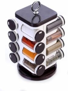 Ganesh Storewell 16-Jar Revolving Spice Rack Spice Set