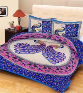 Metro Living Cotton Animal Double Bedsheet