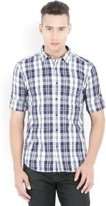 Highlander Men's Checkered Casual Multicolor Shirt