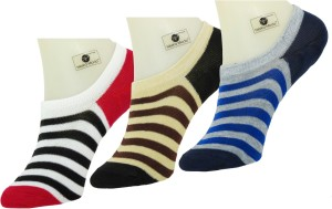 Neska Moda Men & Women Striped No Show Socks