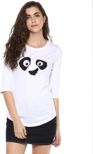 Young Trendz Graphic Print Women Round Neck White T-Shirt