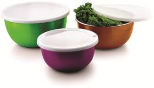 Lavi 3 DiffrentSize Diffrent Color Combo Bowl Stainless Steel Bowl Set
