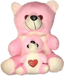 COST TO COST Pink Mother Teddy Bear  - 20 cm