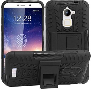 purchase cheap 9c810 16cf7 KANZA Back Cover for Coolpad Cool Play 6Black Defender, Rubber, Plastic